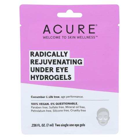 Acure - Under Eye Mask - Radically Rejuvenating Hydrogel - Case Of 12 - 1 Each