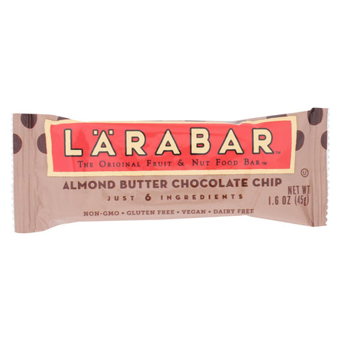 Larabar - Original Fruit And Nut Bar - Almond Butter Chocolate Chip - Case Of 16 - 1.6 Oz.