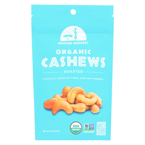 Mavuno Harvest - Organic Roasted Cashews - Case Of 6 - 4 Oz.