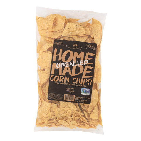 Sabor Mexicano - Chips Corn Unsalted Hmade - Case Of 11-12 Oz