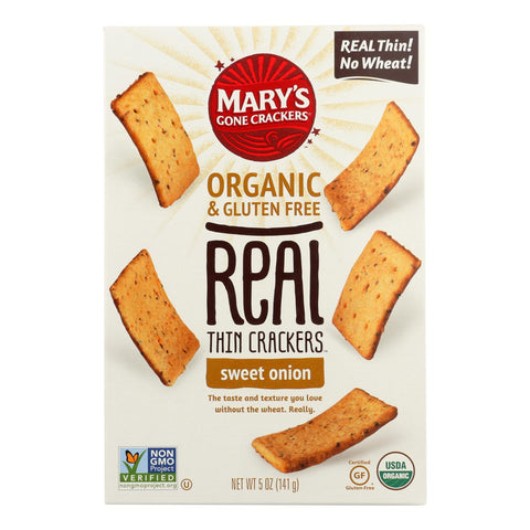 Mary's Gone Crackers - Rl Thn Crckr Sweet Onio - Case Of 6 - 5 Oz