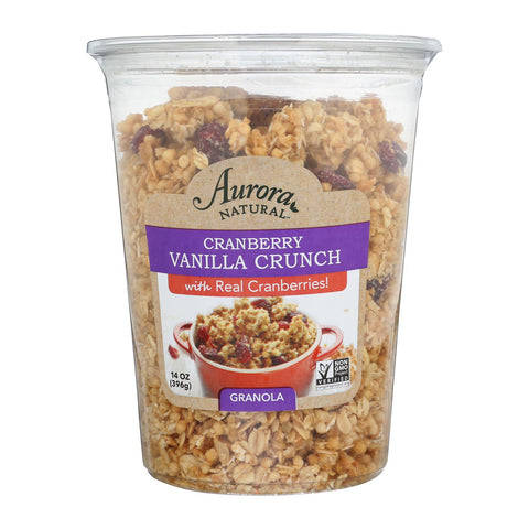 Aurora Natural Products - Granola - Cranberry Vanilla - Case Of 12 - 14 Oz.