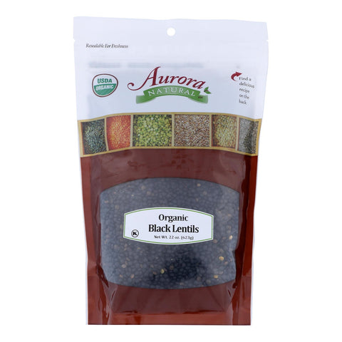 Aurora Natural Products - Organic Lentils - Black - Case Of 10 - 22 Oz.