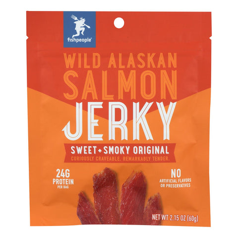 Fishpeople Seafood Wild Alaskan Salmon Jerky - Case Of 6 - 2.15 Oz