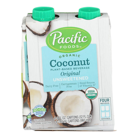 Pacific Natural Foods - Bev Coconut Org Unswt - Case Of 6 - 4-8 Fz