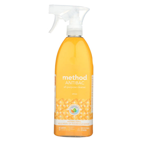 Method - Method - All-purpose Cleaner - Antibacterial Citron - Case Of 8 - 28 Fl Oz.
