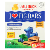 Little Duck Organics - Fig Bars - Blueberry Kale - Case Of 8 - 9-0.67 Oz.