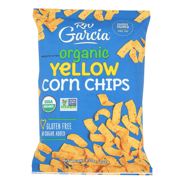 R. W. Garcia Organic Yellow Corn Chips - Case Of 12 - 8.25 Oz