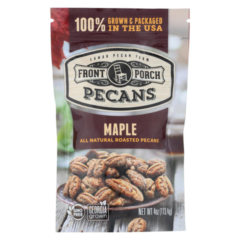 Front Porch Pecans - All Natural Roasted Pecans - Maple - Case Of 6 - 4 Oz.
