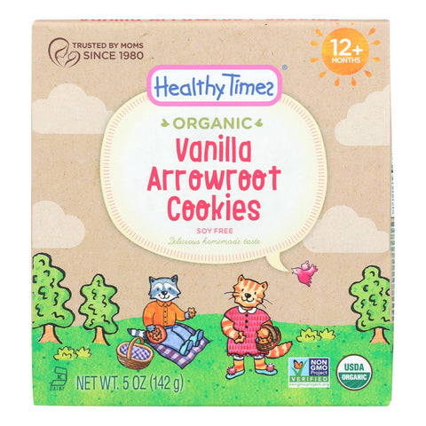 Healthy Times - Cookies Arrowroot Vanilla - Case Of 6 - 5 Oz