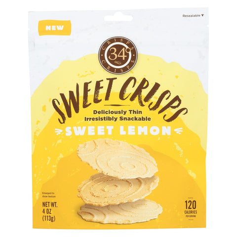 34 Degrees - Crisps Sweet Lemon - Case Of 12-4 Oz
