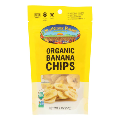 Sunridge Farms - Organic Banana Chips - Case Of 8 - 2 Oz.
