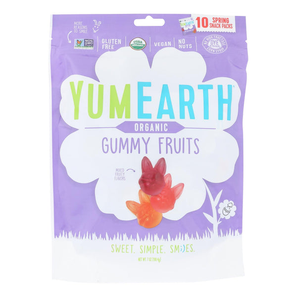 Yumearth - Gummy Fruit Easter - Case Of 18 - 7 Oz