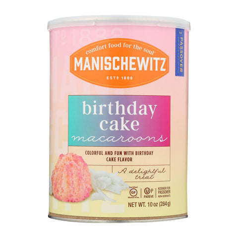 Manischewitz - Macaroons Birthday Cake - Case Of 12 - 10 Oz