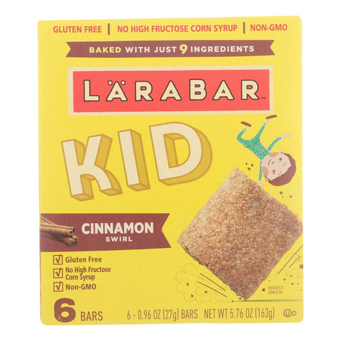Larabar - Bar Kids Cinnamon Swirl - Case Of 8 - 6-.96 Oz