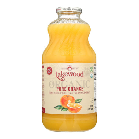 Lakewood - Organic Juice - Pure Orange - Case Of 6 - 32 Fl Oz.