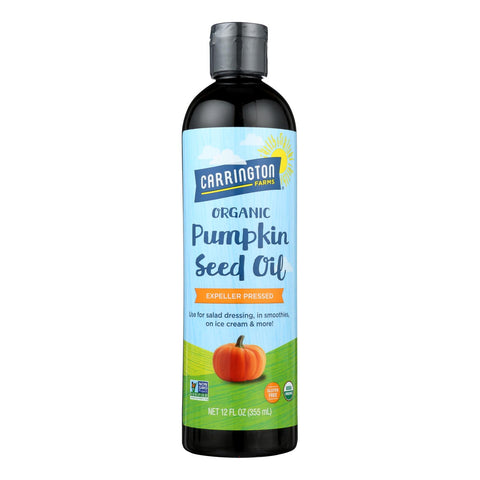 Carrington Farms Organic Pumpkin Seed Oil - Case Of 6 - 12 Fz