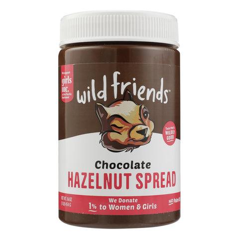 Wild Friends - Hazelnut Sprd Chocolate - Case Of 6 - 16 Oz