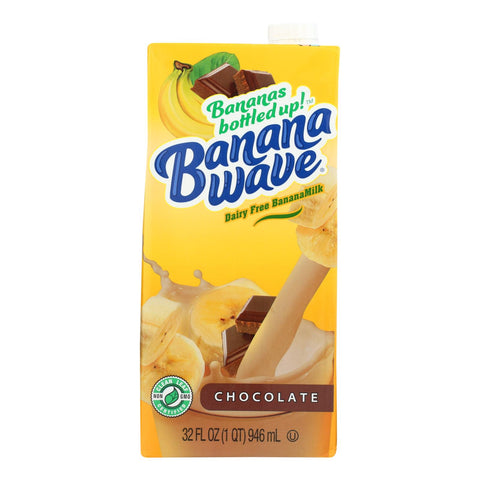 Banana Wave Bananamilk - Banana Milk Chocolate - Case Of 12 - 32 Fz