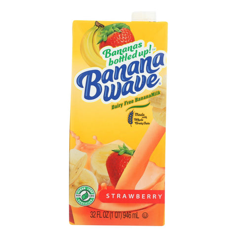 Banana Wave Bananamilk - Banana Milk Strawberry - Case Of 12 - 32 Fz