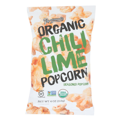 Popcornopolis - Popcorn Chili Lime - Case Of 6 - 4 Oz