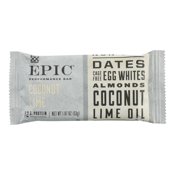 Epic - Performance Bar Coconut Lime - Case Of 9 - 1.87 Oz.