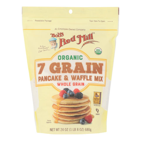 Bob's Red Mill - Pancake-waffle 7 Green - Case Of 4 - 24 Oz