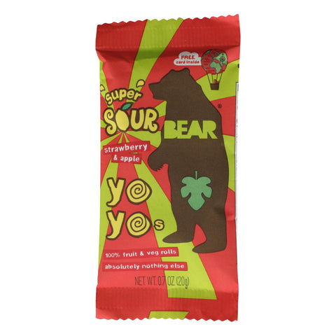 Bear - Rl Fruit Yoyo Straw Apple Sgl - Case Of 12 - .7 Oz