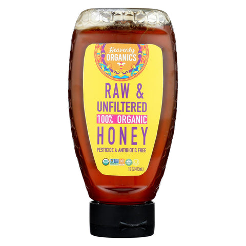 Heavenly Organics - Honey Organic Raw Squeeze - Case Of 6 - 16 Oz