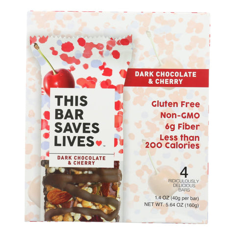 This Bar Saves Lives - Bar Dark Chocolate Cherry 4 Pack - Case Of 8 - 5.64 Oz.