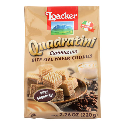 Loacker Quadratini Wafer Cookies  - Case Of 6 - 7.76 Oz