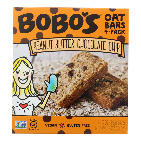 Bobo's Oat Bars - Oat Bar - Peanut Butter Chocolate Chip - Case Of 6 - 4 Pk