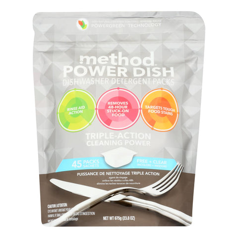 Method Products Inc - Dish Det Free-clear 45pod - Case Of 6 - 23.8 Oz