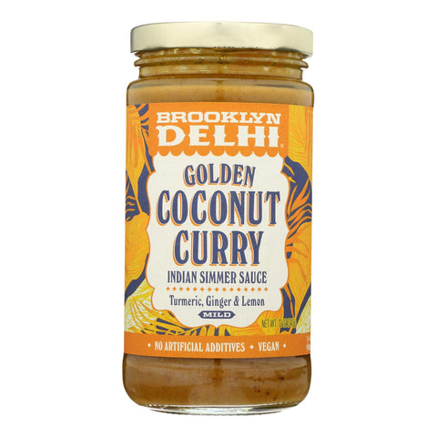 Brooklyn Delhi - Golden Coconut Curry Simmer Sauce - Case Of 6 - 12 Oz