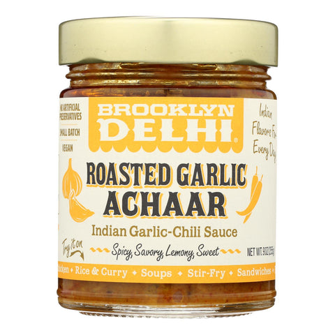 Brooklyn Delhi  - Roasted Garlic Achaar Chili Sauce - Case Of 6 - 9 Oz