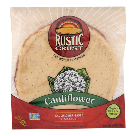 Rustic Crust - Pizza Crust Cauliflower - Case Of 8 - 9 Oz.