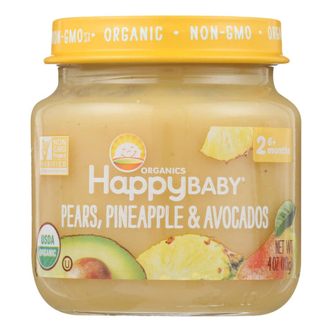 Happy Baby - Cc Pear Pine Avo Stg2 - Case Of 6 - 4 Oz