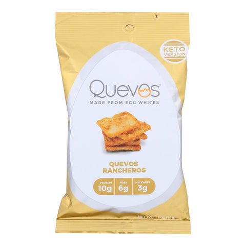 Quevos - Egg Wht Chip Keto Rancher - Case Of 12 - 1.1 Oz