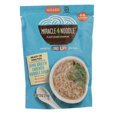 Miracle Noodle - Soup Chicken Bone Broth - Case Of 6 - 7.6 Oz