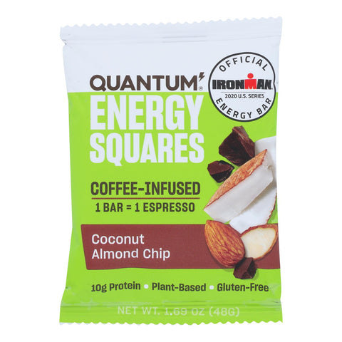 Quantum Energy Squares - Bar Coconut Almond Chip - Case Of 10 - 1.69 Oz