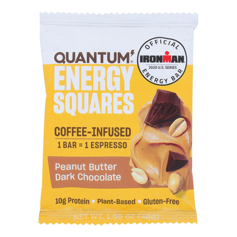 Quantum Energy Squares - Bar Pean Bttr Dark Chocolate - Case Of 10 - 1.69 Oz