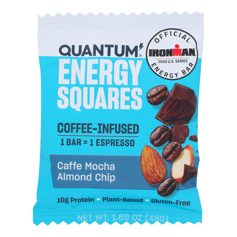 Quantum Energy Squares - Bar Caffe Mocha Almond Chip - Case Of 10 - 1.69 Oz