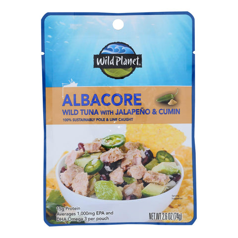 Wild Planet - Tuna Wld Alb Jalp Cmn Peach - Case Of 24 - 2.6 Oz