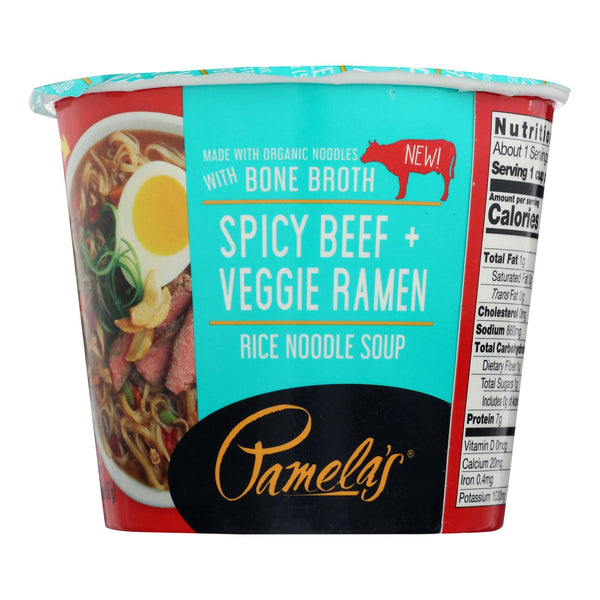 Pamela's Products - Veg Ramen Spicy Beef - Case Of 6 - 2 Oz