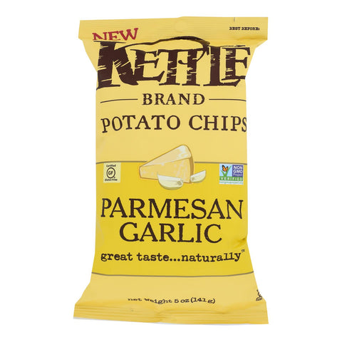 Kettle Brand - Chips Parmesan Garlic - Case Of 15 - 5 Oz