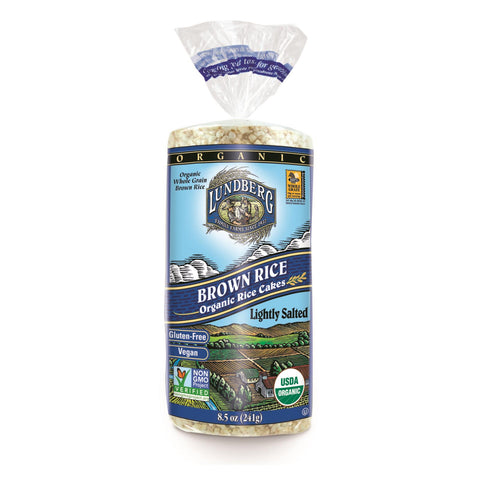 Lundberg Family Farms - Rice Cake Brown Saltd - Case Of 6-8.5 Oz