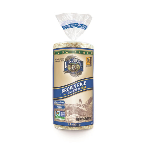 Lundberg Family Farms - Rice Cake Brown Salt - Case Of 6-8.5 Oz