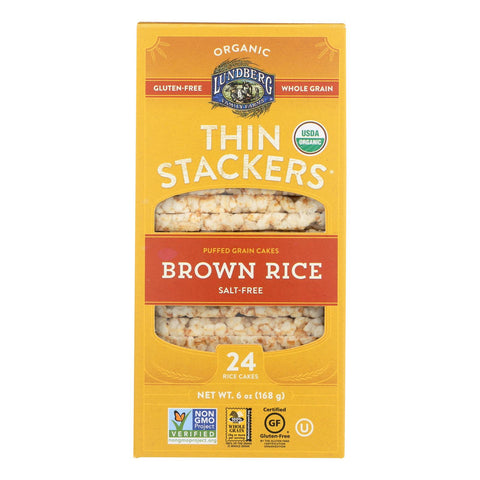 Lundberg Family Farms - Rice Ck Brn Sugar Free Thn Stk - Case Of 6-6 Oz