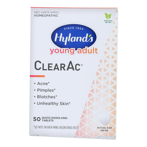 Hylands Homeopathic - Clearac Tablets Yng Adult - 1 Each-50 Tab