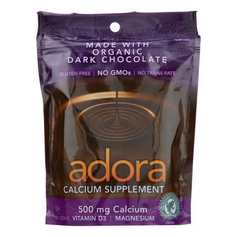 Adora - Chocolate Disk Drkchc Calc - 1 Each-30 Ct